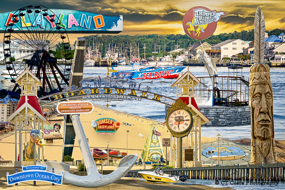 Ocean City Maryland Collage