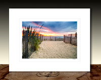 Going to the Beach Matted Print