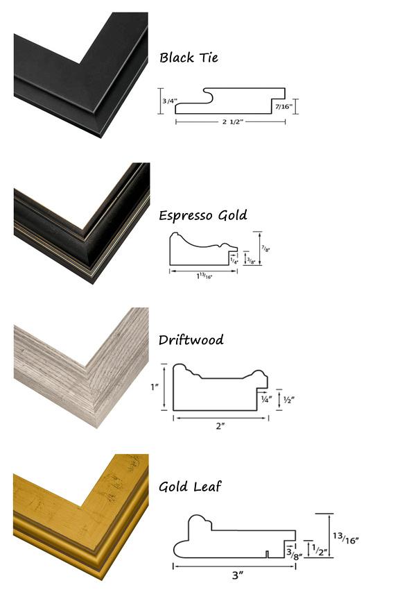 frame samples sizes